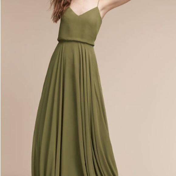 abdc0b3a04fc Jenny Yoo Dresses | Olive Green Inesse Dress Bhldn New | Poshmark